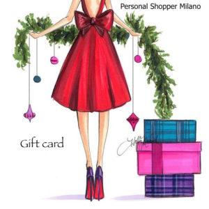 GIFT CARD SPECIALE NATALE CON PERSONAL SHOPPER MILANO